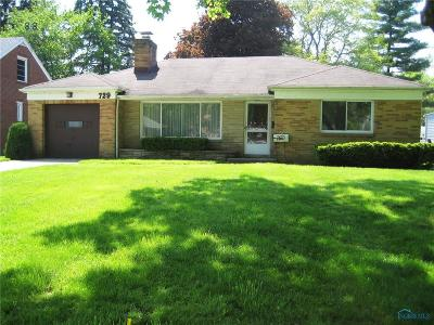 Maumee Single Family Home Contingent: 729 W Carisbrook Drive