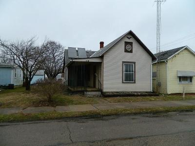 Springfield OH Single Family Home For Sale: $9,000