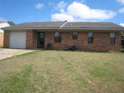 Tecumseh OK Single Family Home For Sale: $68,000