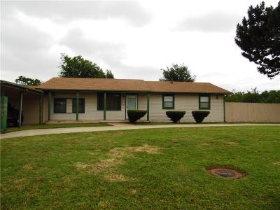 Chickasha Single Family Home For Sale: 1619 S 1st