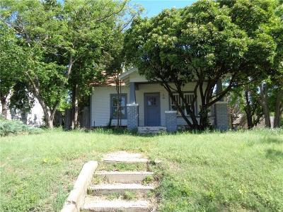Chickasha Single Family Home For Sale: 1002 W Iowa