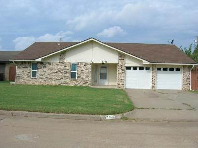 Chickasha Single Family Home For Sale: 3406 S 23rd