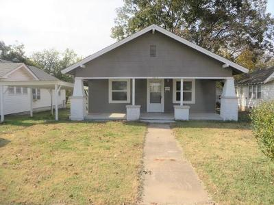 Chickasha OK Single Family Home For Sale: $64,000