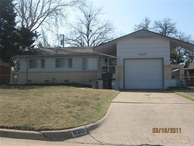 Midwest City Single Family Home For Sale: 9312 Harmony Drive