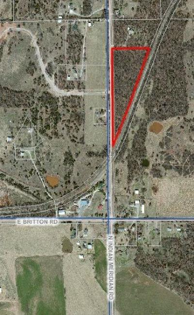Canadian County, Oklahoma County Residential Lots & Land For Sale: 10020 N Indian Meridian