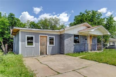 Oklahoma City OK Single Family Home For Sale: $22,000