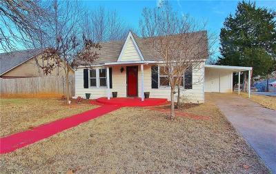 Blanchard OK Single Family Home For Sale: $128,500