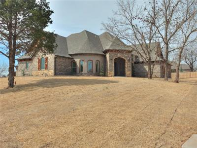 Mustang Single Family Home For Sale: 10601 Gobbler's Roost Road