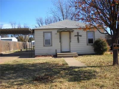 Sayre Single Family Home For Sale: 1408 N 5th