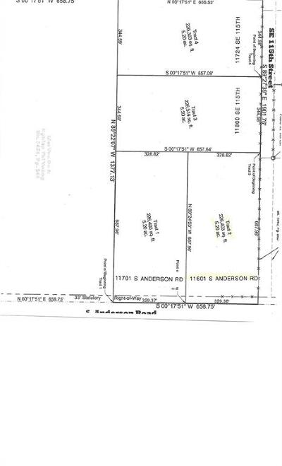 Canadian County, Oklahoma County Residential Lots & Land For Sale: 11601 S Anderson Road