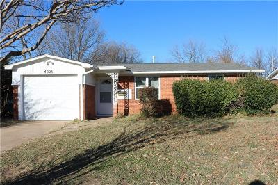 Del City Single Family Home For Sale: 4025 Del Road
