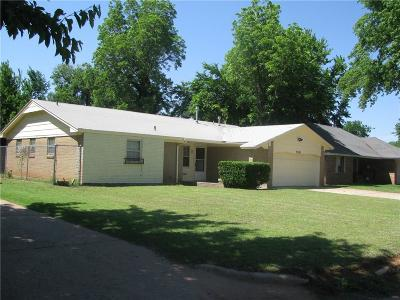 Midwest City OK Single Family Home For Sale: $110,000