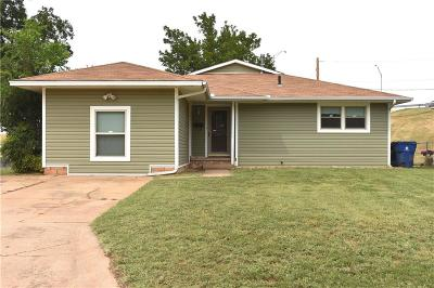 Chickasha OK Single Family Home For Sale: $64,900
