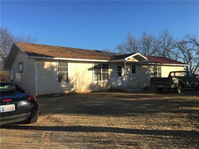 Fort Cobb Single Family Home For Sale: 28047 County Street 2550