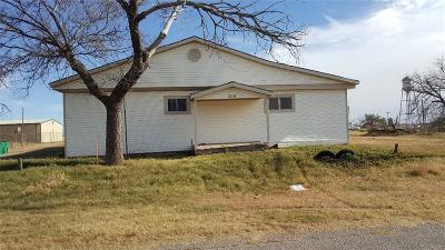Frederick OK Single Family Home For Sale: $3,900