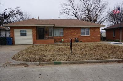 Midwest City Single Family Home For Sale: 2324 N Towry