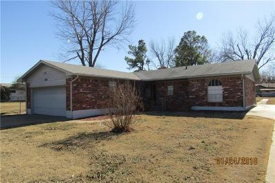 Chickasha Single Family Home For Sale: 1621 Park