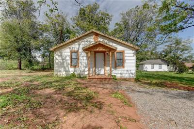 Blanchard OK Single Family Home For Sale: $74,900