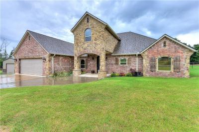 McLoud Single Family Home For Sale: 17595 Fishmarket Road