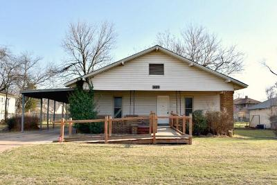 Chickasha OK Single Family Home For Sale: $49,900