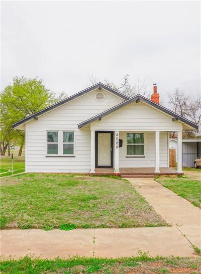 Chickasha Single Family Home For Sale: 2020 S 15th
