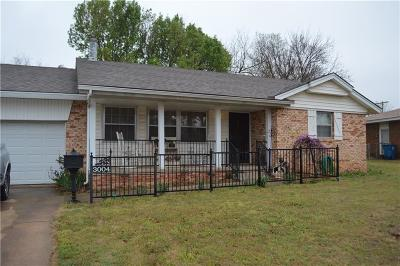 Midwest City Single Family Home For Sale: 3004 Edgewood