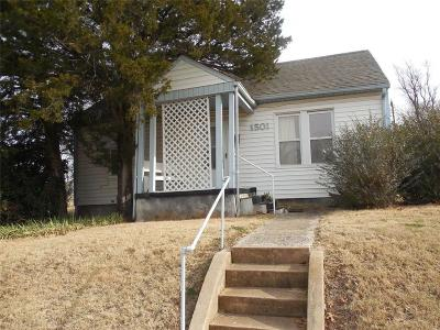 Chickasha Single Family Home For Sale: 1501 S 17th