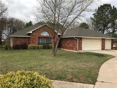 Blanchard OK Single Family Home For Sale: $219,900
