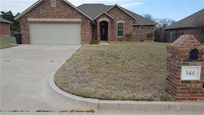 Midwest City Single Family Home For Sale: 544 Blue Sky Drive