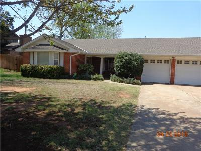 Midwest City Single Family Home For Sale: 3601 Bella Vista