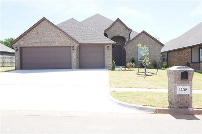 Moore Single Family Home For Sale: 1408 Atalon Drive