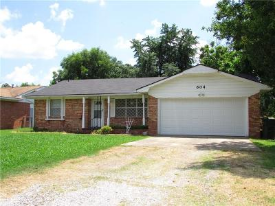 Tecumseh Single Family Home For Sale: 604 E Jefferson