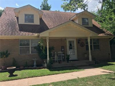 Mustang Single Family Home For Sale: 334 W Cedar