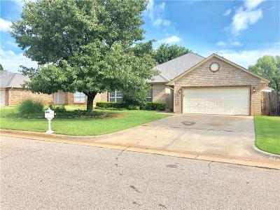 Mustang Single Family Home For Sale: 9609 Gold Field Place