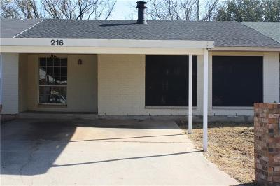 Midwest City Condo/Townhouse For Sale: 216 Kathleen Drive