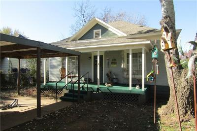 Chickasha OK Single Family Home For Sale: $92,500