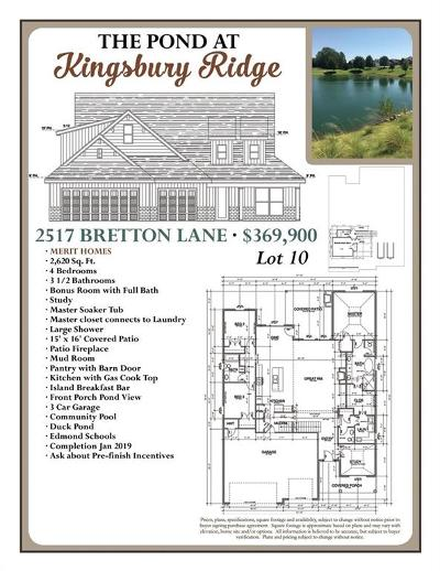 Edmond Single Family Home For Sale: 2517 Bretton Lane