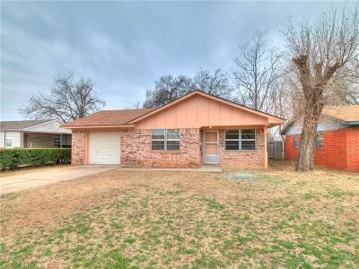 Chickasha OK Single Family Home For Sale: $54,900