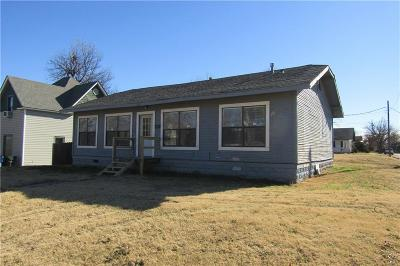 Chickasha OK Single Family Home For Sale: $72,500