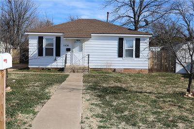 Sayre Single Family Home For Sale: 1406 N 5th