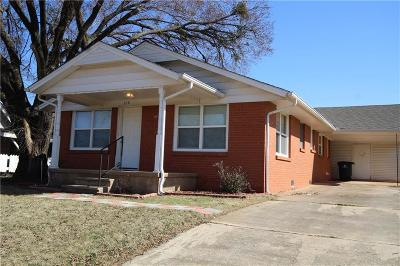 Blanchard OK Single Family Home For Sale: $108,900