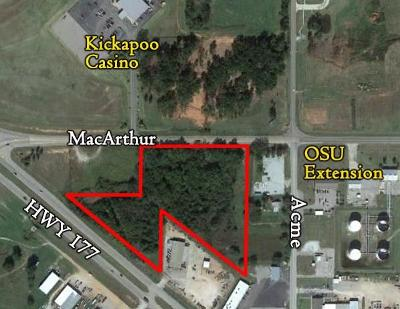 Shawnee Residential Lots & Land For Sale: Hwy 177 & Macarthur
