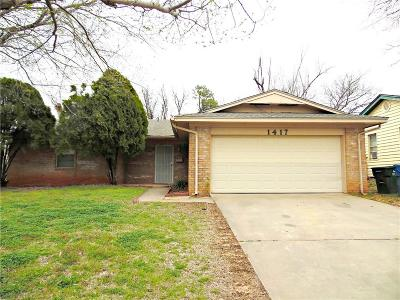 Chickasha Single Family Home For Sale: 1417 S 15th Street