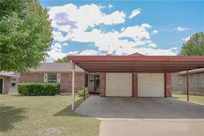 Midwest City Single Family Home For Sale: 218 W Shadywood Drive