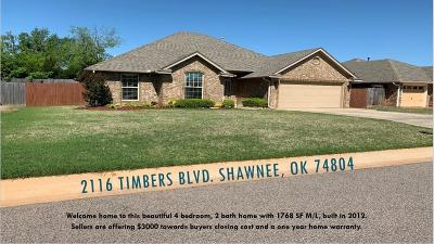 Shawnee Single Family Home For Sale: 2116 Timbers Boulevard