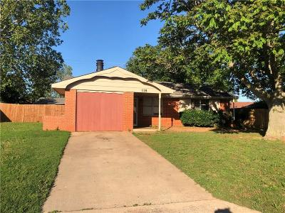 Elk City Single Family Home For Sale: 118 N Ramsey Dr