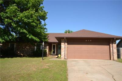 Choctaw Single Family Home For Sale: 850 Oak Hill Road