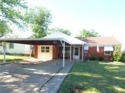 Del City OK Single Family Home For Sale: $77,500
