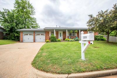 Chickasha Single Family Home For Sale: 109 Belmont Drive