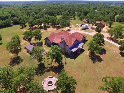 Single Family Home For Sale: 12350 N Harrah Road